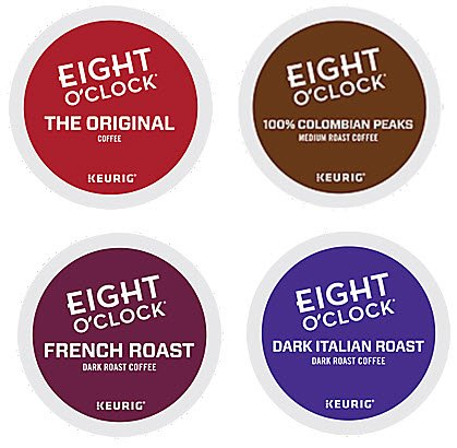 Eight O'Clock K-Cup Coffee Variety Pack 48ct Original, French Roast, Colombian Peaks, Dark Italian Roast Sampler - Bundle of 4 Flavors (French Roast Eight O Clock compare prices)
