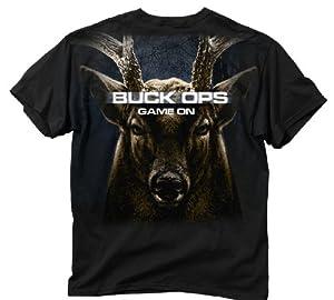 Buck Wear Men's Buck Ops T-Shirt, Black, 3X