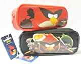 Angry Birds Pencil Case Red and Black (2ct)