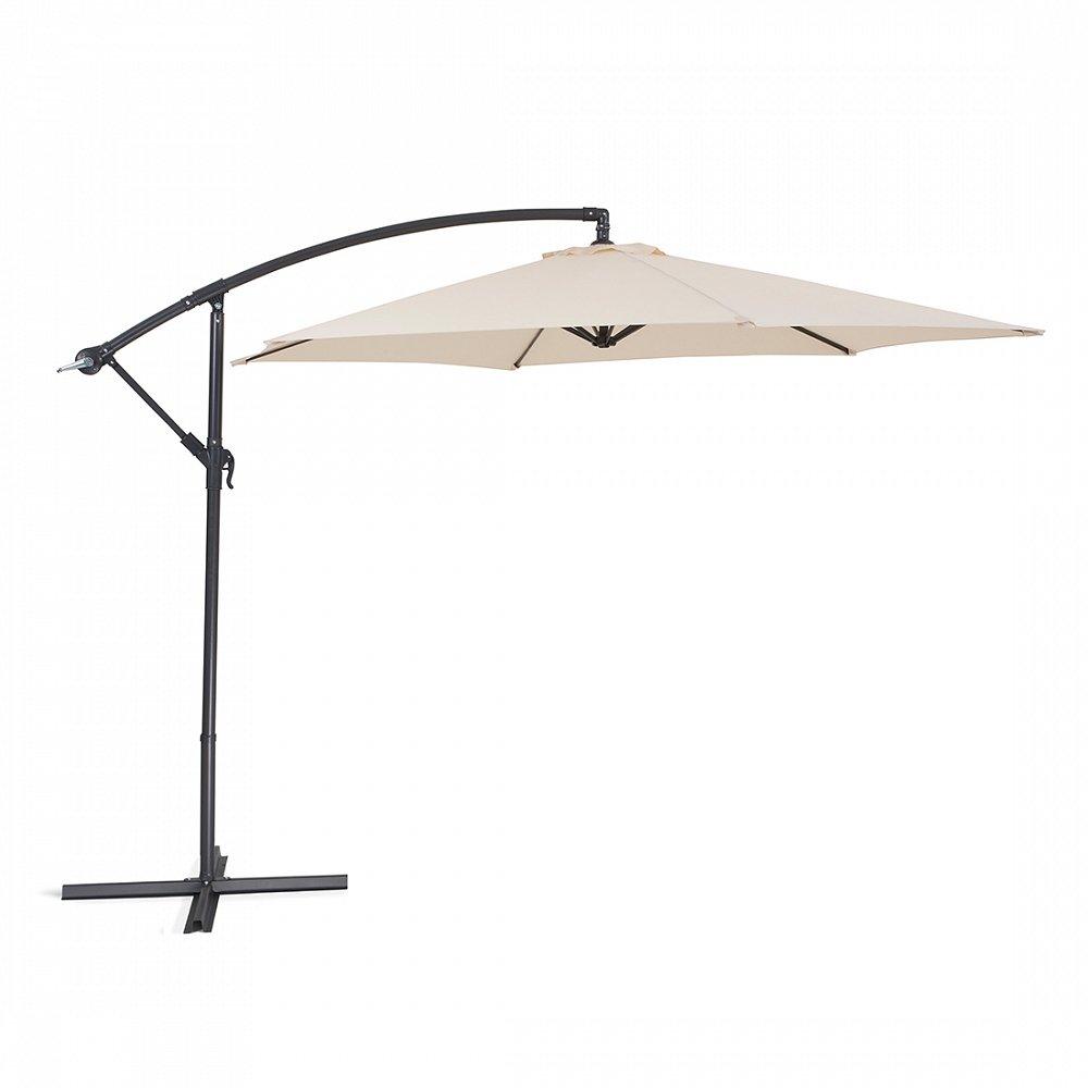 Sonnenschirm - Gartenschirm - Schirm aus Metall - Metallschirm - METALL beige