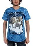 Sonata Arctica - Wolf Tye Dye Adult T-Shirt In Blue