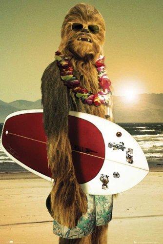 """Empire 498694 Poster """"Star Wars, Chewie Surf"""" 61x91,5 cm"""