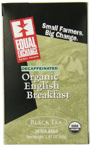 Equal Exchange Organic Decaffeinated English Breakfast Tea, 20 Count (Pack Of 6)