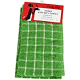 Home And Living Green Cotton Kitchen Towel Pack Of 4
