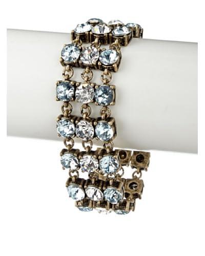 Leslie Danzis Blue/Clear Double Row Crystal Moon Bracelet