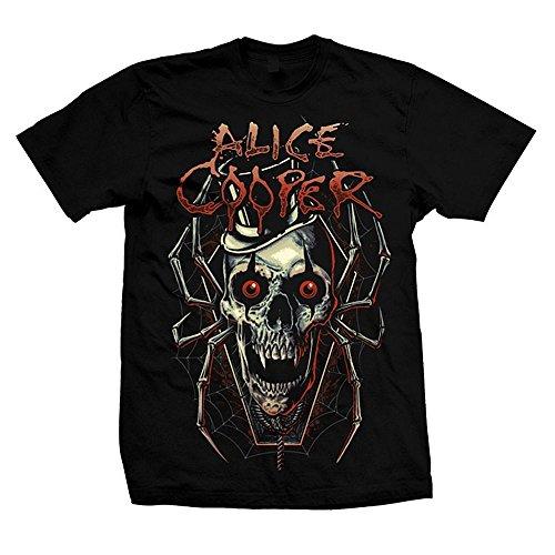 Alice Cooper Skull Spider T-Shirt nero XXL