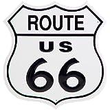 "RT. 66 SHIELD Tin Sign 11""W x 11""H , 12x12"