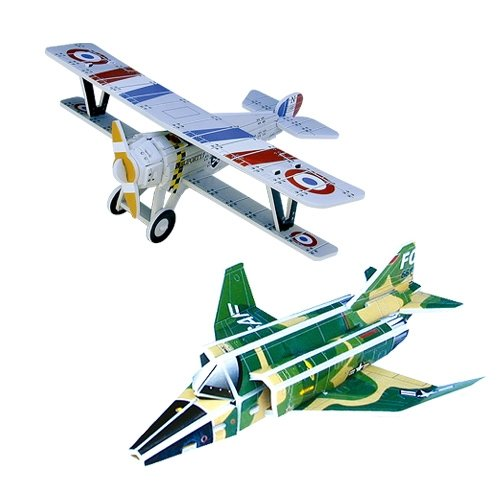 Jigsaw 3D Puzzle Transportation Series - F-4 Phantom/ Nieuport 17 - 1