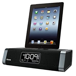 iHome iDL45BC Lightning Dock Clock Radio/ Alarm with USB Charge for iPod, iPad and iPhone