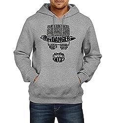 Fanideaz Men's Cotton Breaking Bad Typo I Am the One Who Knocks Hoodies For Men (Premium Sweatshirt)_Grey Melange_M