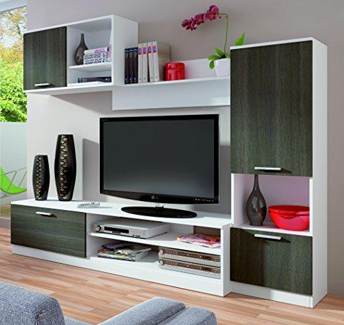 Conjunto de muebles para salón o comedor en colores blanco y ...