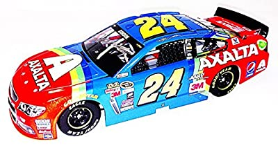 AUTOGRAPHED 2015 Jeff Gordon #24 Axalta Racing RETRO RAINBOW WARRIOR (Bristol Paint Scheme) Final Season Signed Lionel 1/24 NASCAR Diecast Car with COA (#4344 of only 5,617 produced!)