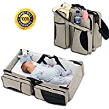 Boxum Baby 3 in 1 - Diaper Bag - Travel Bassinet - Change Station - (Cream)