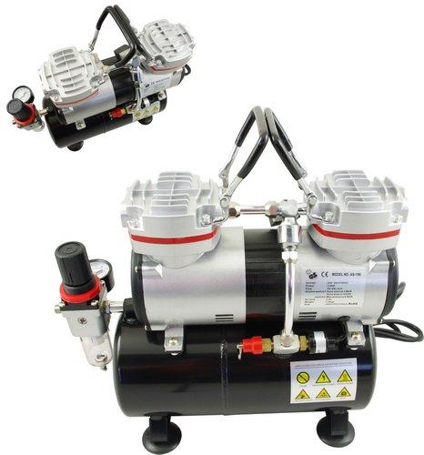 AIRBRUSH-KOMPRESSOR-AS-196-Doppelzylinder-Kolbenkompressor-lfrei