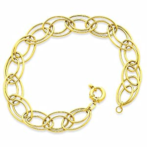 14K Fancy Oval Link Bracelet