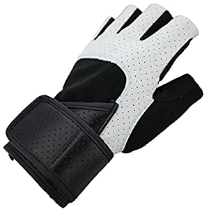 MolGym Crossfit Fingerless Gloves with Wrist Support for Gym Workout, Weightlifting, Cross Training and Fitness