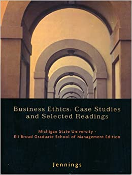 business ethic case study Representing a broad range of management subjects, the icmr case collection provides teachers, corporate trainers, and management professionals with a variety of teaching and reference.