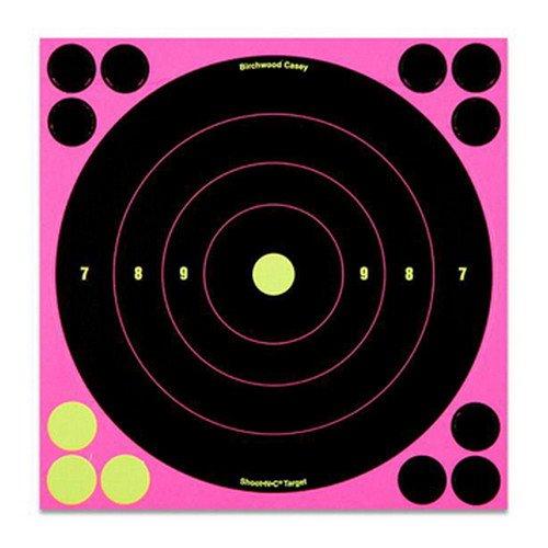 """Birchwood Casey """"Shootnc Pink 8"""""""" Bull'S-Eye Target- 6 Pack"""""""
