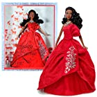 Mattel Barbie Collector Holiday Series 12 Inch Doll - Holiday Barbie 2012 in Exuberant Red Gown of Satin, Jacquard and Tulle Plus Silvery Earrings and Necklace (African American Version - W3466)