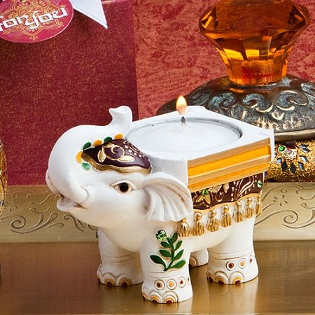 Good Luck Elephant Tea Light Holder