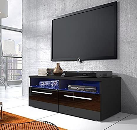 Muebles Bonitos - Mueble tv modelo elene en color negro con led (1m)