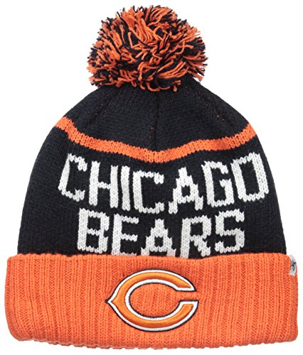 NFL Chicago Bears '47 Linesman Cuff Knit Beanie with Pom, One Size, Navy (Bears Winter Hat compare prices)