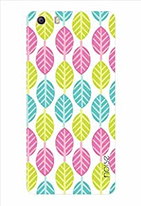 Noise Multicolor And White Leaves Printed Cover for Micromax Canvas Knight 2 E471