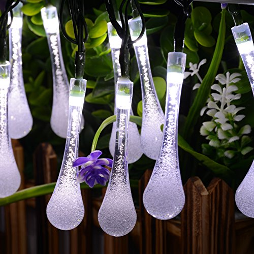 dephen-solar-string-lights-8-mode-197ft-30-led-water-drop-shaped-solar-powered-raindrop-garden-strin