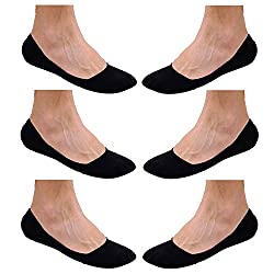 Blinkin Black Loafer Socks, Low Cut Foot Cover Socks, Ankle Socks (6 Pairs)
