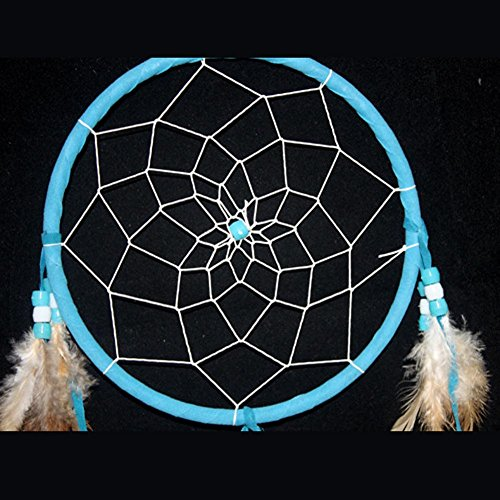 Dream Catcher with Feathers Hanging,Good for Car|Home Wall, Wall Hanging Ornament and Gifts (Blue)