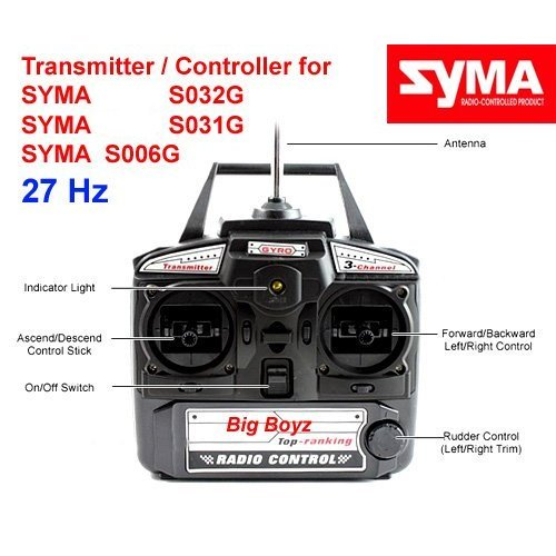 controller transmitter for Syma S031G S032G S006G 27 MHz
