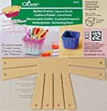 Clover 8421 2-Piece 3-Inch by 3-Inch by 2-3/8-Inch Basket Frames Small, Square