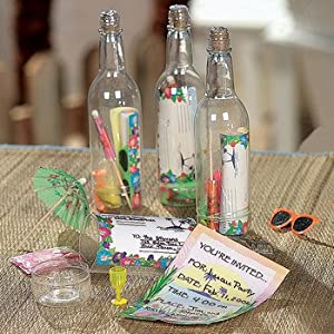 Click to buy Hawaiian Luau Invitations: Message in a Bottle from Amazon!