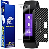 ArmorSuit MilitaryShield - Microsoft Band Screen Protector + Black Carbon Fiber Full Body Skin Protector / Front Anti-Bubble Ultra HD & Touch Responsive Shield with Lifetime Replacements