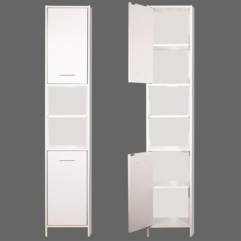 Tall White Bathroom Cabinet images