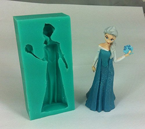 FatflyShop - Frozen Beautiful Elsa Girl 3D Liquid Silicone Mold,fondant Cake Decorating Tools,silicone Soap Mold,silicone Cake Mold