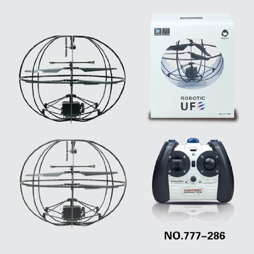 ROBOTIC UFO!?ジャイロ搭載球体ボール型3ch赤外線ラジコンヘリコプター