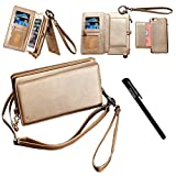 """Urvoix Card Holder Wallet, Zipper Leather Handbag Flip Cover with Detachable Removable Kickstand Case for 4.7"""" Version iPhone6/6S (NOT for 6Plus)"""
