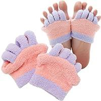 フットケア 5本指 ソックス 靴下 眠れる森の5本指ふわもこソックス 足指タイプ ピンク