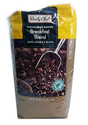 Daily Chef Whole Bean Coffee Breakfast Blend 2.5 lb.