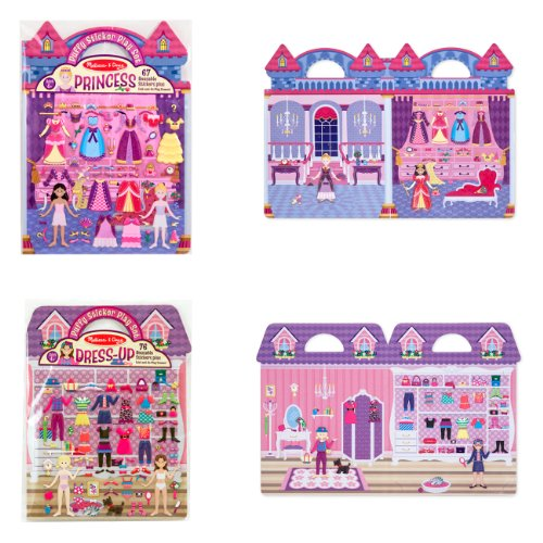 Melissa & Doug Puffy Sticker Bundle - Princess and Dress-Up - 1
