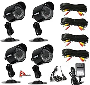 Lorex MC7662 Super Resolution 660TVL/100ft Night Vision Security Cameras - 4pk