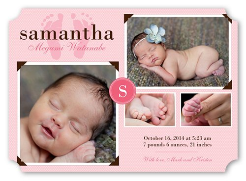 Baby Girl Photo Birth Announcements front-593689