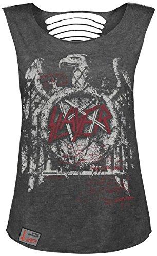 Slayer Black Premium by EMP Signature Collection Top donna grigio scuro XXL