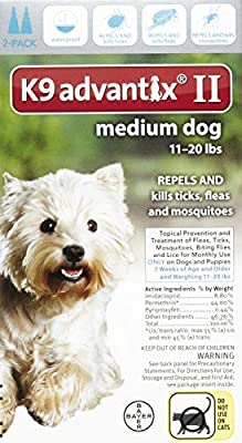 K9 Advantix II Medium Dog 2-Pack