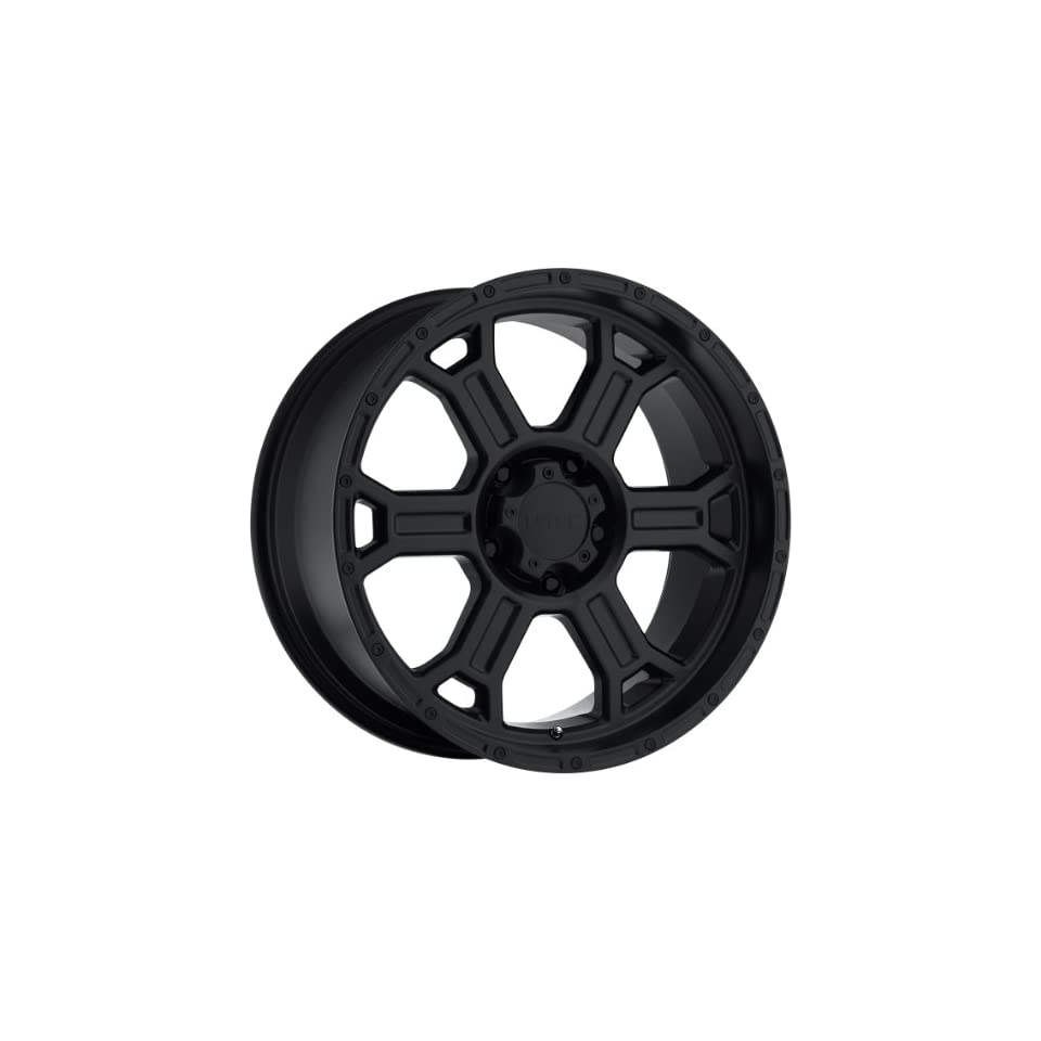 Vision Raptor 17 Matte Black Wheel / Rim 5x5 with a 25mm Offset and a 78.1 Hub Bore. Partnumber 372 7973MB25