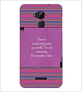 PrintDhaba Quote D-4157 Back Case Cover for COOLPAD NOTE 3 LITE (Multi-Coloured)