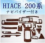 ハイエース200系 インテリアパネル標準(茶木目)