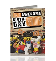 LEGO® Awesome Brother Birthday Card