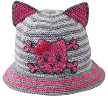 San Diego Hat Baby-girls Newborn Cat Ear Hat, Pink, 6-12 Months